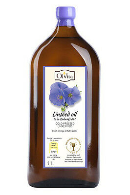 Raw Linseed Flaxseed Oil Cold Pressed Unrefined Dr Budwig Diet ( Olej Lniany )