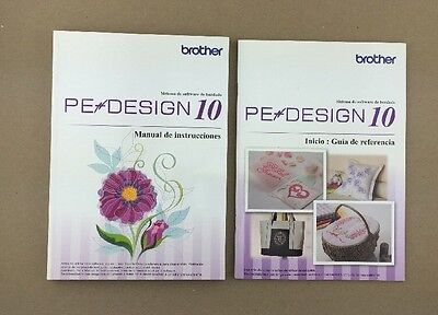 SPANISH Brother Personal Embroidery Design Software PE Design 10 Manual ONLY