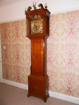 George III 8 Day Oak & Mahogany Moon Phase Longcase Clock, Pattison of Halifax • £3,250.00
