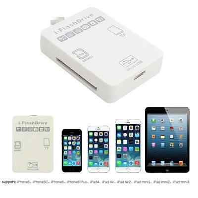 FlashDrive External SD/TF Memory Card Reader For iPhone 5 5S 6 6 plus iPad Unico