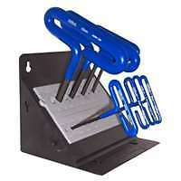 "8 Piece 6"" Cusion Grip Hex T-Key Set with Stand"