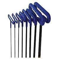 "8 Piece 6"" Cushion Grip Metric Hex T-Key Set"