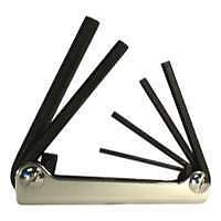 5 Piece Metric Fold-Up Hex Key Set