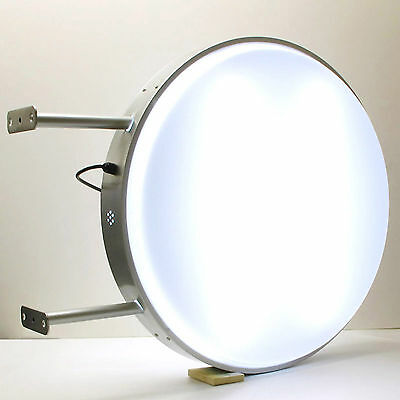 """1 Blank D80cm 31"""" Outdoor Round LED Illuminating Projecting Light Box Sign Shop"""