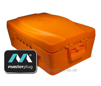 Masterplug IP54 Orange Weatherproof Electric Box - Water Resistant Plastic Box