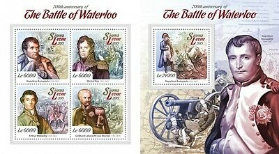 Z08 SRL15108ab SIERRA LEONE 2015 Battle of Waterloo MNH SET