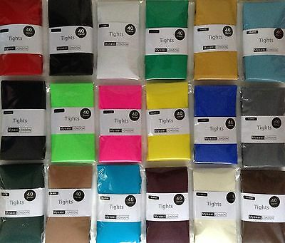 Extra Large Opaque Tights 20 Cols.-XL 54'' & XXL 60'' Hip 40 & 100 Den -Plus