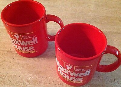 (2) Vintage 1980's (NOS) Promo Mugs/Maxwell House Coffee MINT CONDITION