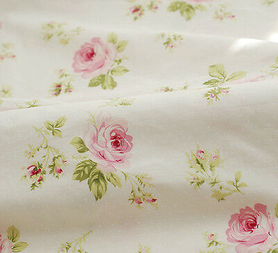 One PCS Cotton Fabric Pre-Cut Quilt cloth Fabric for Sewing Big Rose D36