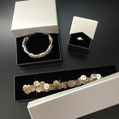 Set Of 3 X Jewellery Gift Boxes/display/ring/ Bracelet/ Bangle/ Pendant/necklace