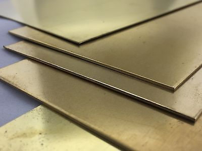 Brass Sheet plate Thick 0.5mm - 1.0mm Grade CuZn37 Various Sizes