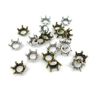 Buddly Crafts Silver & Bronze Tone Metal Charms - 20pcs Crowns 14mm