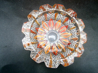 Beautiful  Heavy  Vintage  Cut  Glass   Bowl