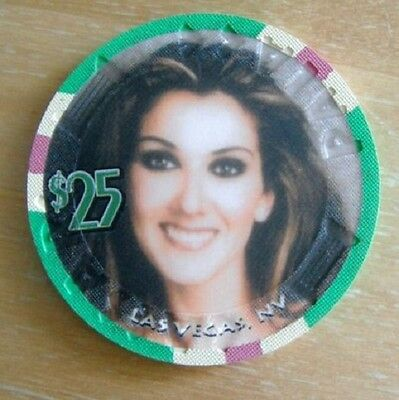 Celine Dion - A New day Casino Chip Caesars Palace $25