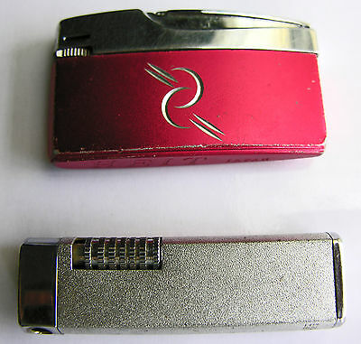 2 Vintage Lighters Made in Japan, HEIT Red Color & The Pipelighter II