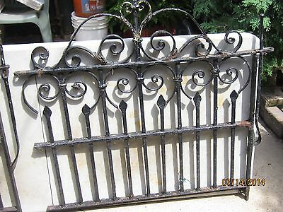 "Antique Cast Iron Gate Rod Iron Original 38"" X 40"""