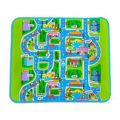 Cute Car Road Track Children Play Mat Pad Rug Le go Big 1.6M x 1.3M + Carry Bag
