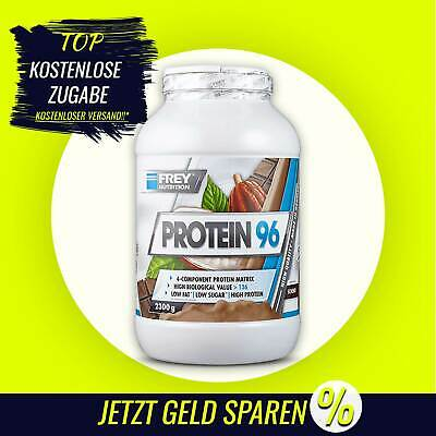 (25,43€/kg) Frey Nutrition Protein 96 -2,3 kg Dose- Milchproteinisolat Valin A7A