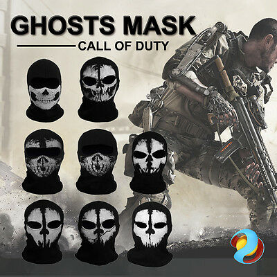 Call of Duty Ghosts Skull Full Face Biker Ski Balaclava Motorcycle Mask Cosplay