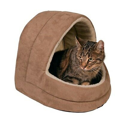 Cat Cave Bed Plush Igloo Felicia Brown Cats Small Dogs 36291