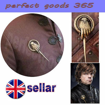 Game of Thrones Hand of The King Brooch Pin Authentic & Detailed Badge Replica