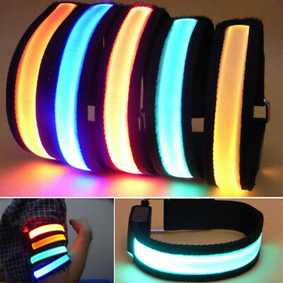 New Flashing Safety LED Light Reflective Belt Strap Arm Band Armband For Running