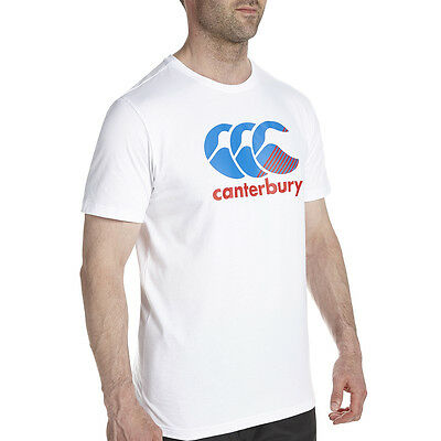 Tee shirt rugby stripe canterbury Blanc  Neuf Taille L