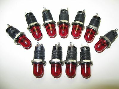 (11) Vintage Dialight Dialco Series 137 Panel Mount Indicator Lights Steampunk