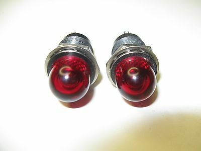 2pc Vintage Dialight Dialco ? Military Panel Mount Indicator Lights