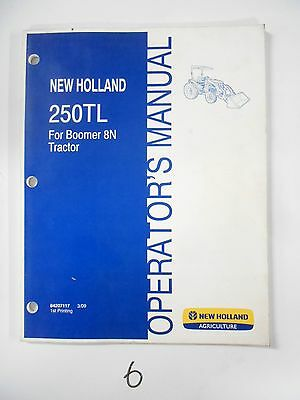 new holland 250tl loader operator s owner s manual for boomer 8n rh picclick com boomer 8n owners manual tr-8 owners manual