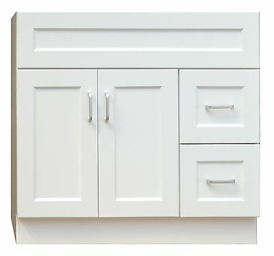 36 inch Vanity with 2 drawers on right or left
