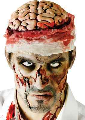 Horror Bloody Brain Headpiece Scary Zombie Makeup Halloween Party Costume Funny