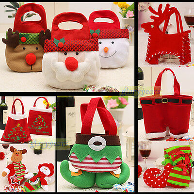 Santa Claus Christmas Candy Bag Elf Shoe Cute Kids Favor Gift Lovely Party Home