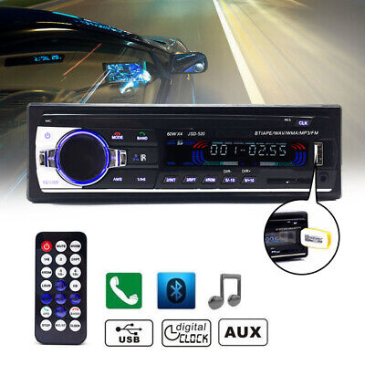 Bluetooth Car In-dash Radio Stereo Audio Head Unit MP3/USB/SD/AUX-IN/FM Player