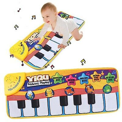 Funny Baby Kid Toy Gift Touch Keyboard Musical Carpet Mat Singing Animal Piano