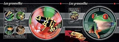 TG15208ab Togo 2015 frogs grenouilles Frosche MNH SET **