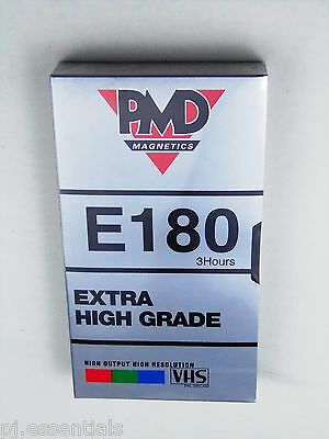 Pack of 4 PMD 3 Hour E180 Blank VHS Video Cassette Tapes - BRAND NEW