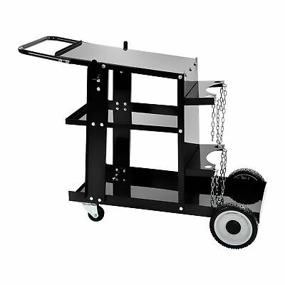 Welding Trolley Universal Mig Mag Plasma Tig Welder Cart Gas Bottles And Chains