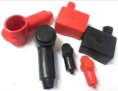 Battery Terminal Covers Positive Negative Red Black Straight Left Right Flag