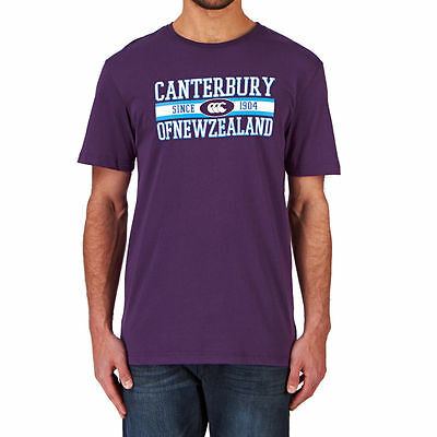 Tee shirt rugby CNZ logo tee canterbury Marine  Neuf Taille L violet