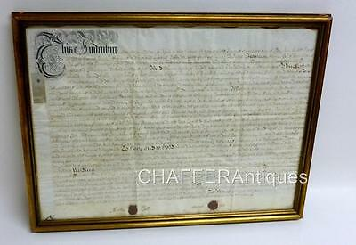 Original Queen Anne Vellum Indenture 1712 County of Kent