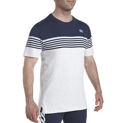 Tee shirt rugby Chest Stripe canterbury Bleu  Neuf Taille L