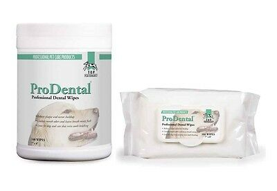 PRO DENTAL WIPES for DOGS & CATS - Oral Health for Pet's Teeth Removes Plaque
