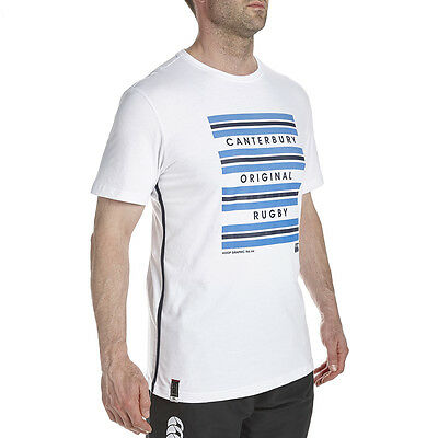 Tee shirt rugby Hoop Stripe canterbury Blanc Neuf Taille L