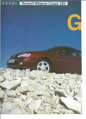 Essai Renault Megane Coupe 16 V 1997 8 Pages