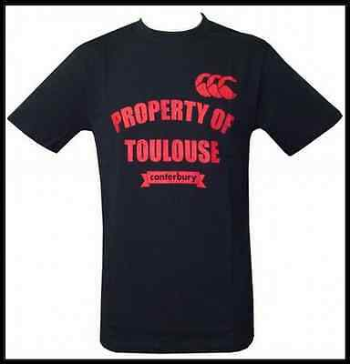 Tee shirt Canterbury Property of Toulouse Neuf Taille M Noir