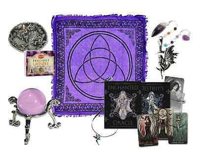Fairy Wiccan Altar Kit - Divination, Tarot, Oracle, Pendulum, Crystal Ball