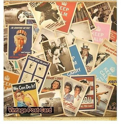 LOT of 32 pcs Vintage Retro Old World War Army Postcards Cards Posters Art #03