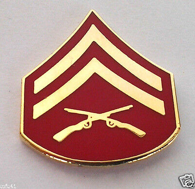 US MARINE CORP RANK E4 CORPORAL    SMALL   Military Veteran Rank Pin 14388 HO