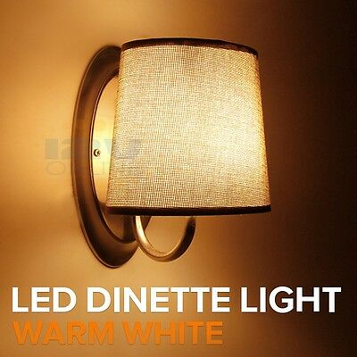 best service 646e1 ba723 12V LED BROWN Fabric Shade Wall Sconce RV Camper Hall Stairwell Bedroom  décor WW